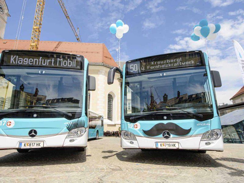 Klagenfurt Mobil Busse bei Pressekonferenz